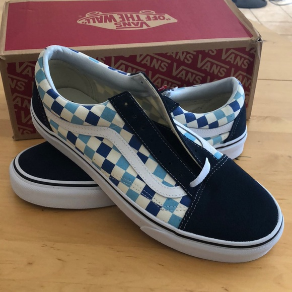 d082351e73076f NEW Old skool checkerboard Blue Topaz Vans